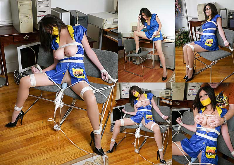 Ashley Renee tied on chair