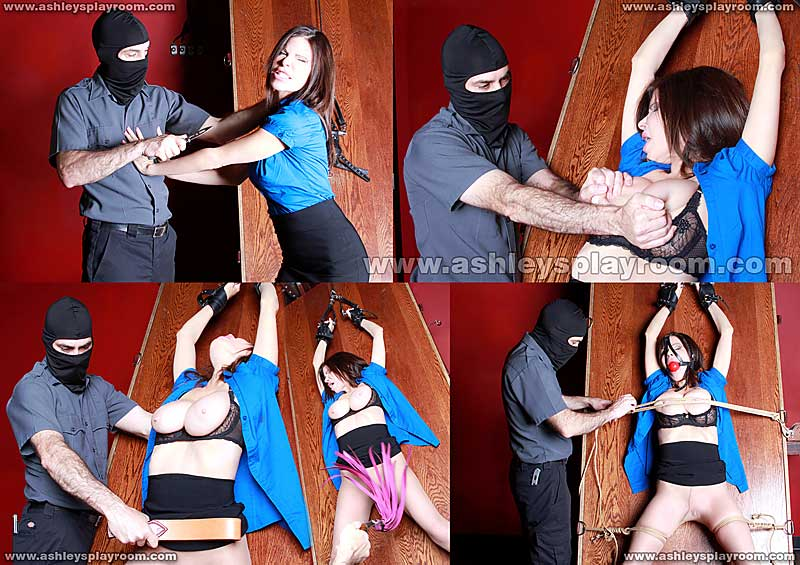 Ashley Renee tied & flogged