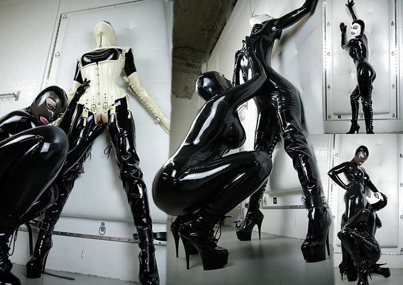 Miss Kitch and Ashley Renee in Rubber Dolly Video